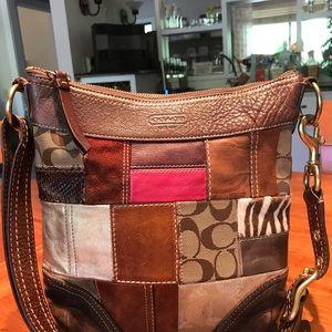 Coach Leather Patchwork Messenger Bag
